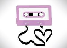 传染媒介爱情歌曲概念 库存照片