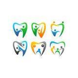 传染媒介牙齿clipart的人 库存图片