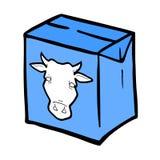 传染媒介牛奶箱子 库存照片