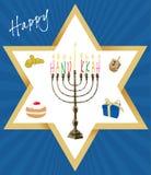 传染媒介-犹太假日光明节 免版税库存图片