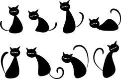 传染媒介猫标志 图库摄影