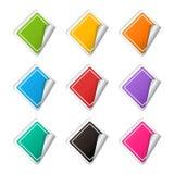 传染媒介现实菱形五颜六色的贴纸集合 库存图片