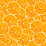传染媒介现实被切的橙色无缝的样式 库存照片
