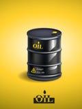 传染媒介现实黑金属油桶 免版税库存图片