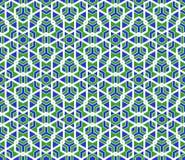 传染媒介现代无缝的五颜六色的几何多角形样式 图库摄影