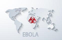 传染媒介现代ebola elemenr设计 图库摄影