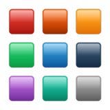 传染媒介玻璃方形的按钮, eps10例证 向量例证