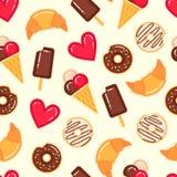 传染媒介甜点样式 免版税库存图片