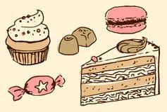 传染媒介甜点 库存图片
