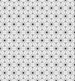 传染媒介黑白几何无缝的样式 库存照片