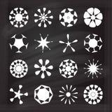 传染媒介白垩圆的元素集 库存图片