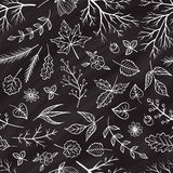 传染媒介白垩样式花卉无缝的样式 免版税库存图片