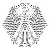 传染媒介黑白徽章德国的 免版税图库摄影