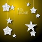 传染媒介白皮书圣诞节星 免版税图库摄影