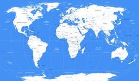 传染媒介白色世界地图 库存图片