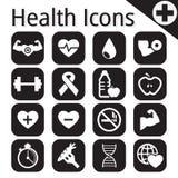 传染媒介白色健身和健康象 免版税图库摄影