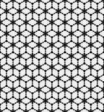 传染媒介黑白花卉无缝的样式 免版税库存照片