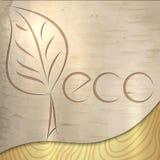 传染媒介轻的木桦树生态纹理 免版税图库摄影
