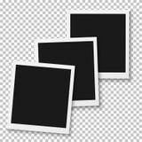 传染媒介瞬时照片 空白的葡萄酒照片框架大模型 照片拟真的传染媒介EPS10减速火箭的照片框架大模型 向量例证