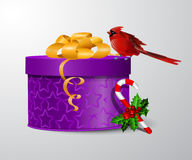 传染媒介礼物盒例证 图库摄影