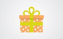 传染媒介礼物盒象 库存图片