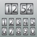 传染媒介读秒定时器和记分牌数字 免版税库存照片