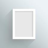 传染媒介空白的白色框架设计 免版税库存照片