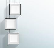 传染媒介3空白的黑现实正方形垂悬的框架设计 图库摄影