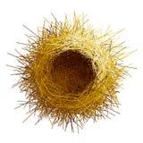 传染媒介空的鸟巢顶视图 免版税图库摄影