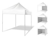 传染媒介突然出现室外事件的帐篷 库存例证