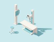 传染媒介等量低多X光机 向量例证