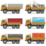 传染媒介建筑卡车 皇族释放例证