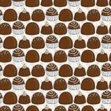 传染媒介糖果和棒棒糖无缝的样式 甜党纹理 免版税库存照片