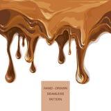传染媒介糖浆在蛋糕层数的滴水样式 免版税库存图片