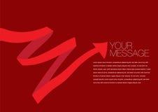 传染媒介红色上色了丝带布局设计 库存图片