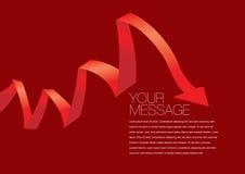 传染媒介红色上色了丝带布局设计 免版税库存照片
