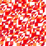 传染媒介红色几何无缝的样式 免版税库存照片