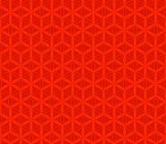 传染媒介红色花无缝的样式,背景 免版税库存照片