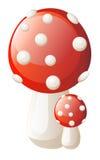 传染媒介红色蘑菇 免版税库存照片