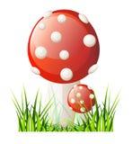 传染媒介红色蘑菇 库存照片