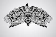 传染媒介纹身花刺老鹰头 库存图片