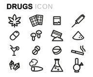 传染媒介线被设置的药物象 库存例证
