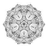 传染媒介美丽的Deco单色等高星,被仿造的设计元素 图库摄影