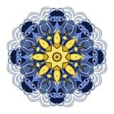 传染媒介美丽的Deco色的坛场 免版税库存图片