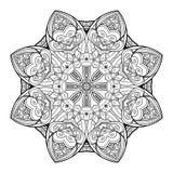 传染媒介美丽的Deco黑色坛场 免版税库存照片