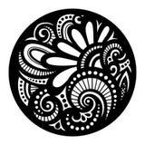 传染媒介美丽的Deco黑色坛场 免版税库存图片