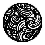 传染媒介美丽的Deco黑色坛场 免版税图库摄影