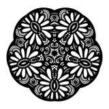 传染媒介美丽的Deco黑色星 免版税库存图片