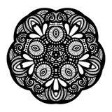传染媒介美丽的Deco黑色星 库存图片