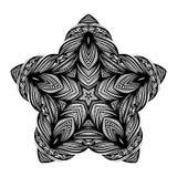 传染媒介美丽的Deco黑色星 免版税图库摄影